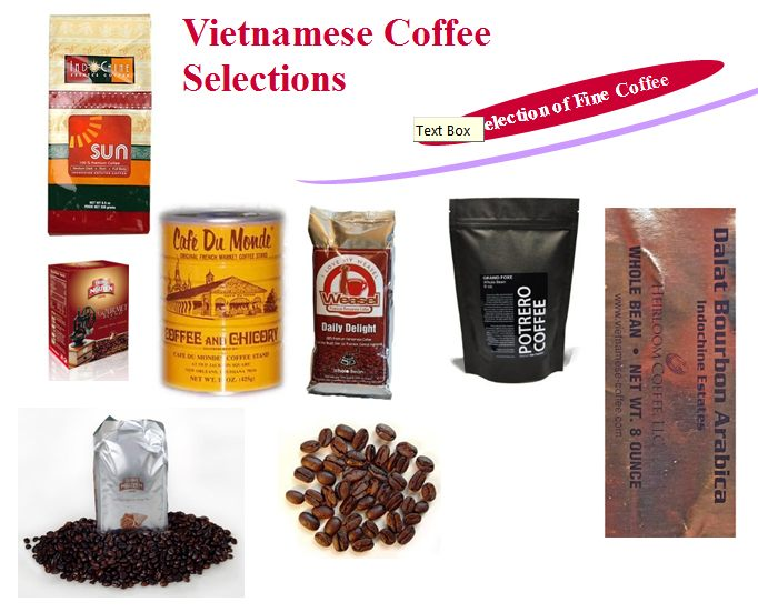 Selection of Vietnam's coffee in photos
