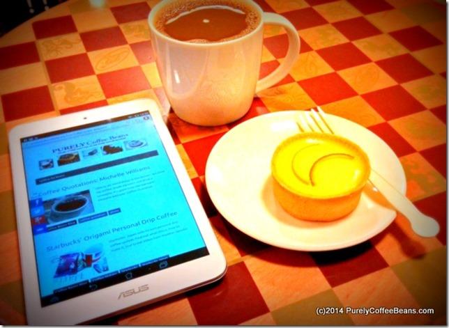 Dark Roast Coffee of the Day w. Lemon Cake